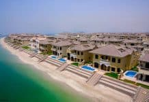 Single-family homes at the Palm Jumeirah, Dubai, UAE